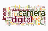 Digital camera text clouds — Stock Photo