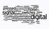 Digital text cloud — Stock Photo