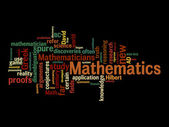 Mathematic text clouds — Stock Photo