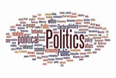 Politic text cloud — Stock Photo