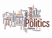 Politic word clouds — Stock Photo