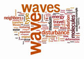 Wave text clouds — Stock Photo