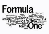 Formula 1 word clouds — Stock Photo