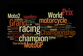 Motogp color text clouds — Stock Photo