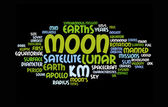 Moon word clouds — Stock Photo