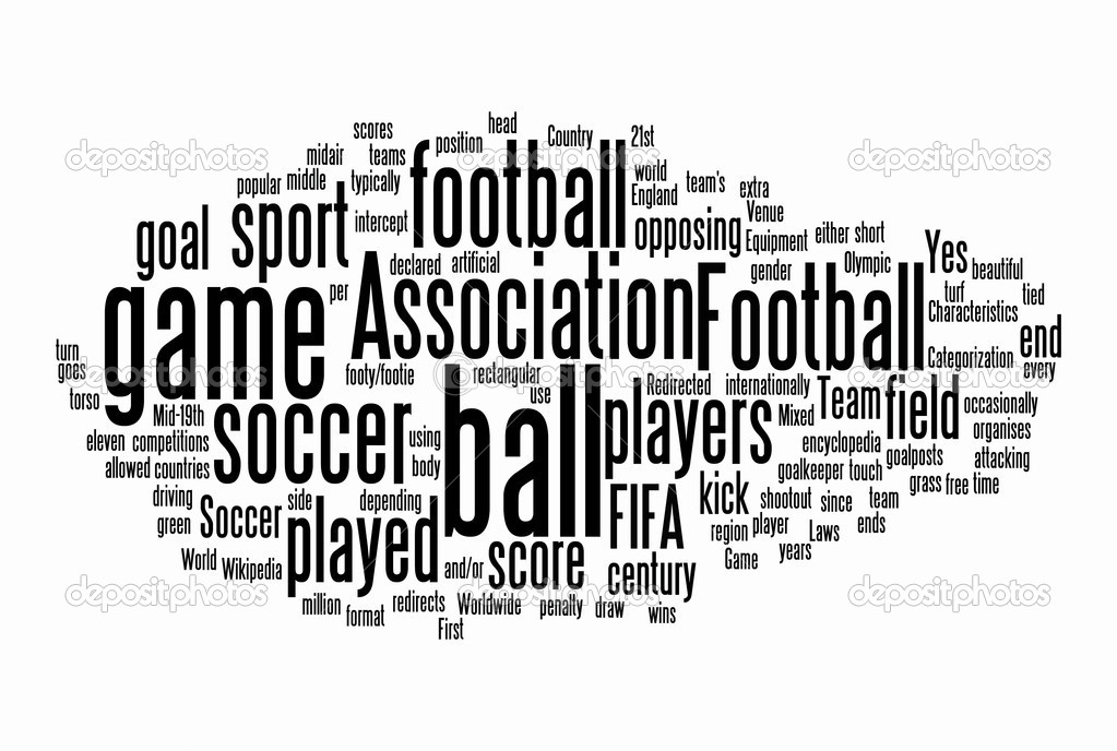 Football text clouds on white background — Stock Photo #7668978