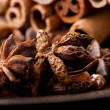 Stock Photo: Star aniseed and cinnamon sticks