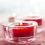 Valentine candles — Stock Photo
