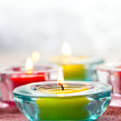 Close-up of candles - Foto Stock