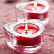 Valentine candles — Stock Photo