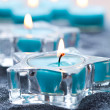 Blue candles — Stock fotografie