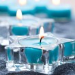 Blue candles — Foto Stock