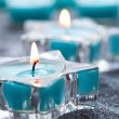 Stock Photo: Blue candles