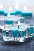Blue candles — Stock Photo
