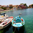 Stock Photo: Fishing boats in Assos, Kefalonia