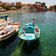 Fishing boats in Assos, Kefalonia — Stock Photo #7668176