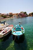 Fishing boats in Assos, Kefalonia — Stock Photo