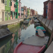 Canal in Burano — Stock Photo