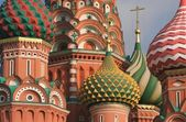 Domes of St. Basil's Cathedral — Stock Photo