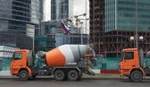 Concrete trucks — Stock Photo