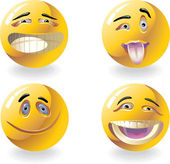 Four smiles — Stock Vector
