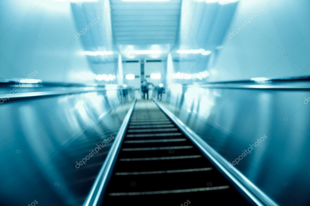 Moving escalator on modern city  Stock Photo #6918096