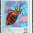 Royalty-Free Stock Photo: VIETNAM - CIRCA 1982 : stamp - animal insect stink bug