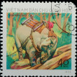 VIETNAM - CIRCA 1973:  stamp - animal elephant — Stock Photo