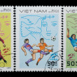 Royalty-Free Stock Photo: VIETNAM - CIRCA 1982: stamp sport football game