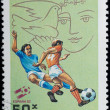 VIETNAM - CIRCA 1982: stamp sport football game — Stock Photo #6922877