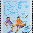 VIETNAM - CIRCA 1982: stamp sport football game — Stock Photo #6922878