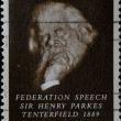 Federation speech sir Henry Parkes Tenterfield — Stock Photo