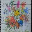 AUSTRALIA stamp shows  flower bouquet - Stock Photo
