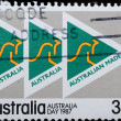 Royalty-Free Stock Photo: AUSTRALIA stamp shows  kangaroo sign