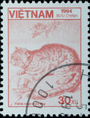 VIETNAM - CIRCA 1984: stamp - wild animal Felis lynx — Stock Photo