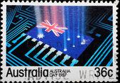 AUSTRALIA stamp shows — Stock Photo
