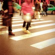 On zebra crossing — Stock Photo #7108268