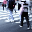 On zebra crossing street — Stock Photo #7109401