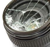 Broken camera lens — Stock fotografie