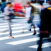 On zebra crossing street — Stock Photo
