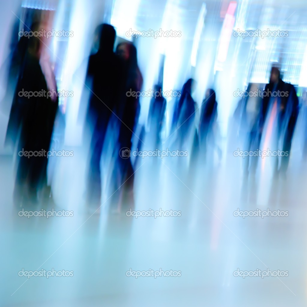 Business passenger walk at subway station — Stock Photo #7109097