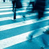 On zebra crossing — Stock Photo