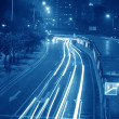 High speed car light trail — Stock Photo