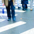 On zebra crossing — Stock Photo #7303779