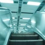 Moving escalator — Stock Photo