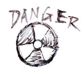 Danger nuclear energy — 图库照片