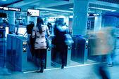 Enter subway station — Stock Photo