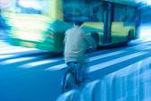 Ciclista in movimento — Foto Stock
