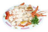 Delicious grilled lobster — Foto Stock