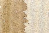 Texture en carton ondulée brune sec et humide — Photo